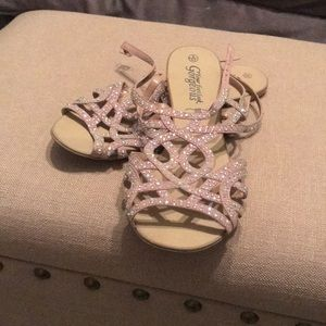 Shoes - Blush Sandals with Bling